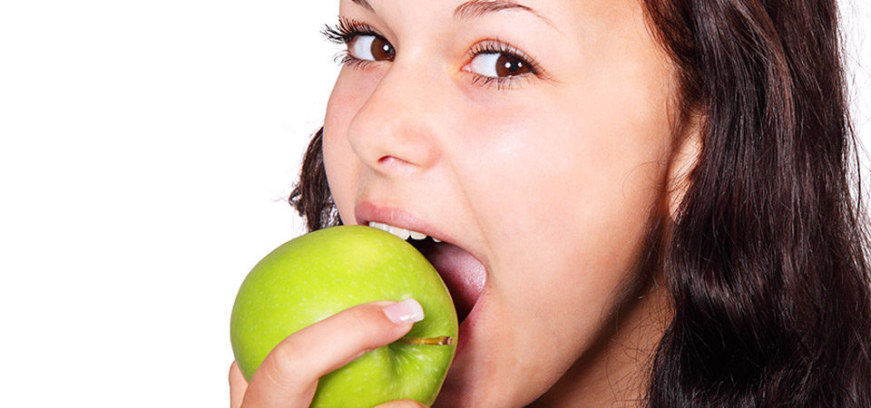 Girl Eating Apple